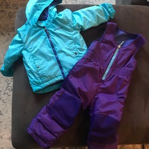 3T Columbia snow pants and snow jacket